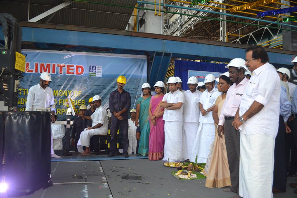 Steel cutting for RO-RO vessels